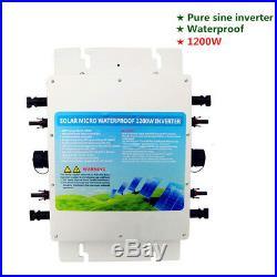 1.2KW 24V Pure Sine Wave Wasserdicht Grid Tie Inverter With MPPT/APL Function