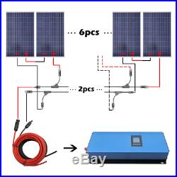 1 KW to 2 KW Grid Tie Solar Kit 100W Solar Panel 1KW 2KW Inverter Charge Home