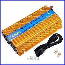 1000 Watt Solar Inverter DC20-45V Grid Tie Inverter AC110V/220V Micro Inverter