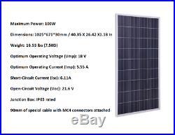 1000W 1KW Grid-Tie Solar System 10pcs 100W Solar Panel Kit +1000W Inverter Home