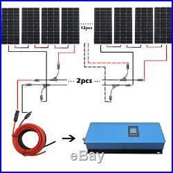 1000W 2000W Grid Tie Solar System Kit 100W 120W Solar Panel 1KW 2KW Inverter