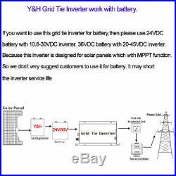 1000W Grid Tie Inverter 110V Used for 12V Solar Panel Pure Sine Wave Inverter