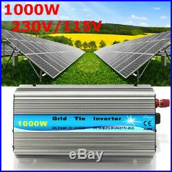 1000W Grid Tie Inverter 115V or 230V Output MPPT Pure Sine Wave Inverter Power