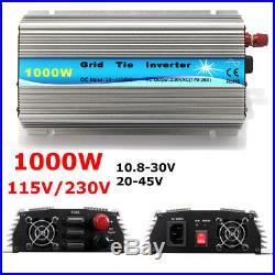 1000W Grid Tie Inverter 90V 230V MPPT Pure Sine Wave Inverter Power 50Hz/60Hz