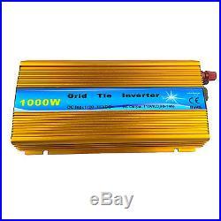1000W Grid Tie Inverter DC 22-45V to AC 110V Solar 110V MPPT Function 50Hz/60Hz
