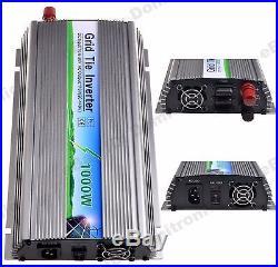 1000W Grid Tie Inverter Fit for 18V Panel DC10.8V-30V AC110V Stackable 1KW