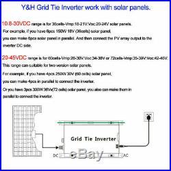1000W Grid Tie Inverter MPPT Stackable DC20-45V to AC110V Pure Sine Wave Inverte