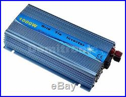 1000W Grid Tie Inverter Pure Sine Wave Inverter 110V or 220VAC Sky Blue Color CE