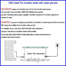 1000W Grid Tie Inverter Stackable MPPT DC20-45V to AC110V Pure Sine Wave Inverte