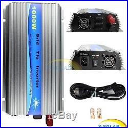 1000W Grid Tie Solar Inverter Pure Sine Wave With MPPT for 18V 30V 36V Solar Panel