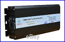 1000W Grid Tie power inverter DC22V-56V / AC110V, solar panel, mppt, USA stock