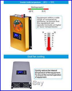 1000W LCD Solar Grid Tie Inverter with internal limiter MPPT Pure Sine Wave