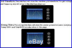 1000W LCD displaySolar Grid Tie Inverter MPPT Pure Sine Wave 22-65V or 45-90V DC