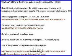1000W MPPT Grid Tie Inverter DC10.8-30V to AC110V Solar Pure Sine Wave Inverter