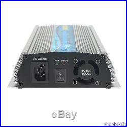 1000W MPPT Grid Tie Inverter Pure Sine Wave DC20-45V AC 110/230V Solar Inverter