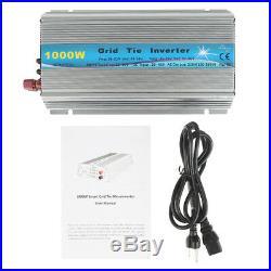 1000W MPPT Micro Solar Inverter Grid Tie Inverter DC20V45V to AC230V QK799