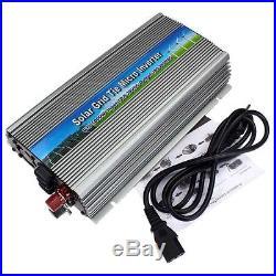 1000W MPPT Solar Grid Tie Inverter Pure Sine Wave DC10.5-28V to AC110V/220V