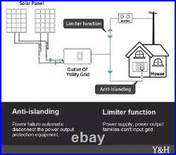 1000W MPPT Solar Grid Tie Inverter with Power Limiter DC22-60V, AC110V/220V Auto