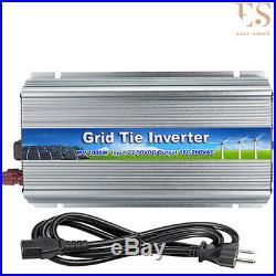1000W Mirco Grid Tie Inverter110V For 24V/36V Solar Panel Pure Sine Wave With Cord