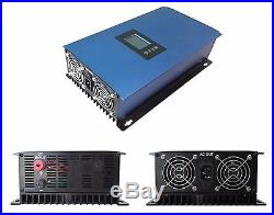 1000W New Grid Tie Inverter 22-65V or 45-90V DC LCD display MPPT Pure Sine Wave