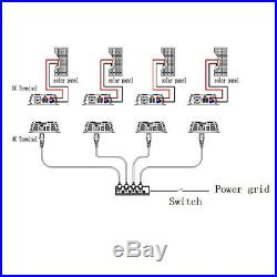 1000W Solar Grid Tie Inverter 110V MPPT Pure Sine Wave Power Inverter 50/60Hz US