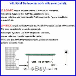 1000W Solar Grid Tie Inverter 110V for 24V/36V PV Panel Pure Sine Wave Inverter