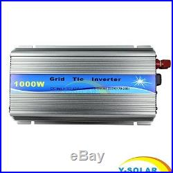 1000W Solar Grid Tie Inverter MPPT DC 18V 36V To AC 110V/220V Solar Inverter