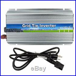 1000W Solar Grid Tie Inverter MPPT Pure Sine Wave with Energy Watt Meter 110V US