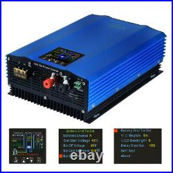 1000W Solar Grid Tie Inverter MPPT with Limiter Pure Sine Wave DC24-96V AC110/220V