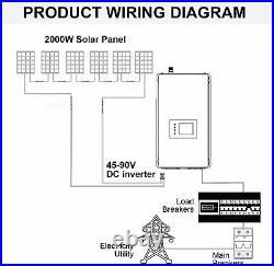1000W Solar Grid Tie Inverter with Power Limiter DC26-60V to AC110V/220V Auto