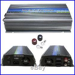 1000W Solar Power Grid Tie Inverter Pure Sine Wave DC 10.5-28V to AC110V or 220V