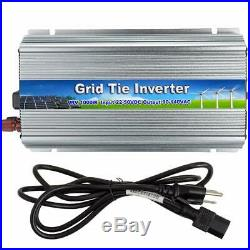 1000W Solar Power Inverter Grid Tie Pure Sine Wave 110V with Energy Watt Meter US