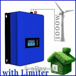 1000W Wind Turbine on Grid Tie Inverter Limiter Home Power Sun