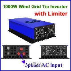 1000W Wind Turbine on Grid Tie Inverter Limiter Home Power Sun 1000G2 WAL US