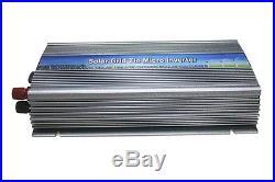 1000W grid tie solar inverter, pure sine wave, mppt on grid inverter dc10.5-28V