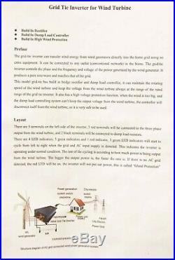 1000w Wind Turbine Grid-tie Inverter with Dump Load & Anti-Islanding