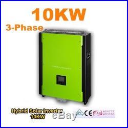 10KW Hybrid Solar Inverter 48V 380V Grid Tie Inverter 900Vdc PV 40A AC Charger