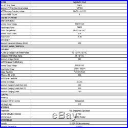 110V 3KVA 2400W Grid Tie Inverter 24V Solar Inverter MPPT Hybrid Inverters 40A