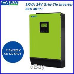 110V Grid Tie Inverter 2400W 24V Solar Inverter 2000W MPPT Hybrid Inverters 40A