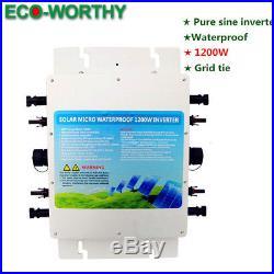 1200W / 600W 110V Waterproof Grid Tie Power inverter for Solar Panel Kit HOME