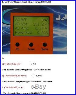 1200W Grid Tie Inverter 102V-158VDC/220VAC With 3.5LCD&MPPT Charger Solar Panel