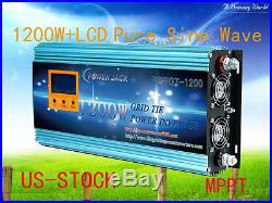 1200W Grid Tie Inverter 28-48V DC/220V AC With LCD Meter & MPPT For Solar Panel