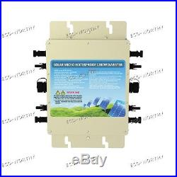 1200W Grid Tie Inverter MPPT Function Waterproof MC4 Connector For Solar Panel