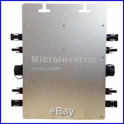 1200W Grid Tie Micro Inverter, Mppt Pure Sine Wave DC 22-50V IP65 US