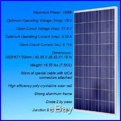 1200W Grid Tie Solar System Complete Kit 12100W Solar Panel +1000W Inverter