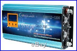 1200W Grid tie power inverter DC 26.4V-45V to AC 110V + LCD meter, MPPT for solar