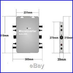 1200W MPPT Solar Grid Tie Inverter DC22-50V to AC Power Inverter IP65 Waterproof