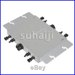 1200W MPPT Solar Micro Grid Tie Inverter IP65 DC 10.5-50V AC90-260V 50/60Hz USA