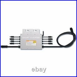1200W Microinvert Grid Tie Inverter DC18-50V to AC 110/220V Auto Waterproof IP65