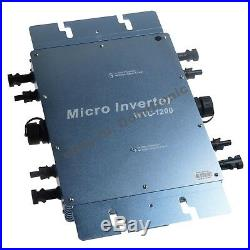 1200W Waterproof Grid Tie Inverter DC24V to AC110V Solar Inverter Pure Sine Wave